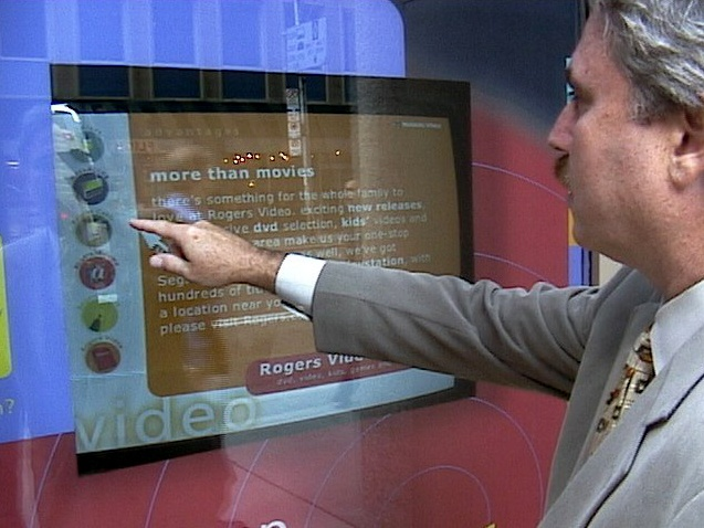 Users can Point to Select items in retail store windows using the GestPoint system. Courtesy GestureTek.