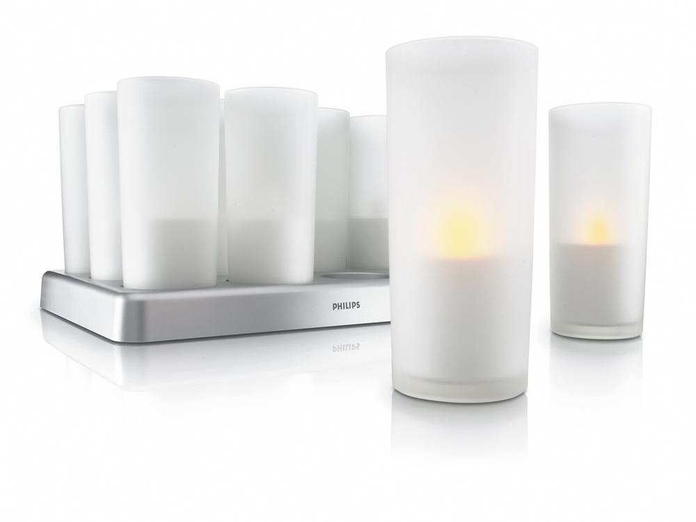 You turn on an Imageo Candle Light by shaking it. Courtesy Philips Lighting.