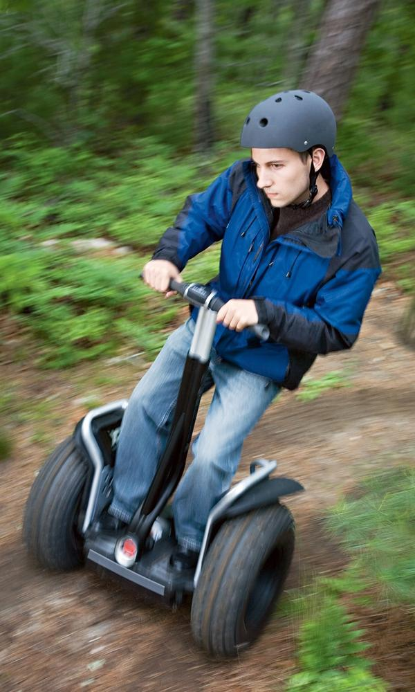 To operate a Segway, drivers tilt in the direction they want to go. Courtesy Segway, Inc.