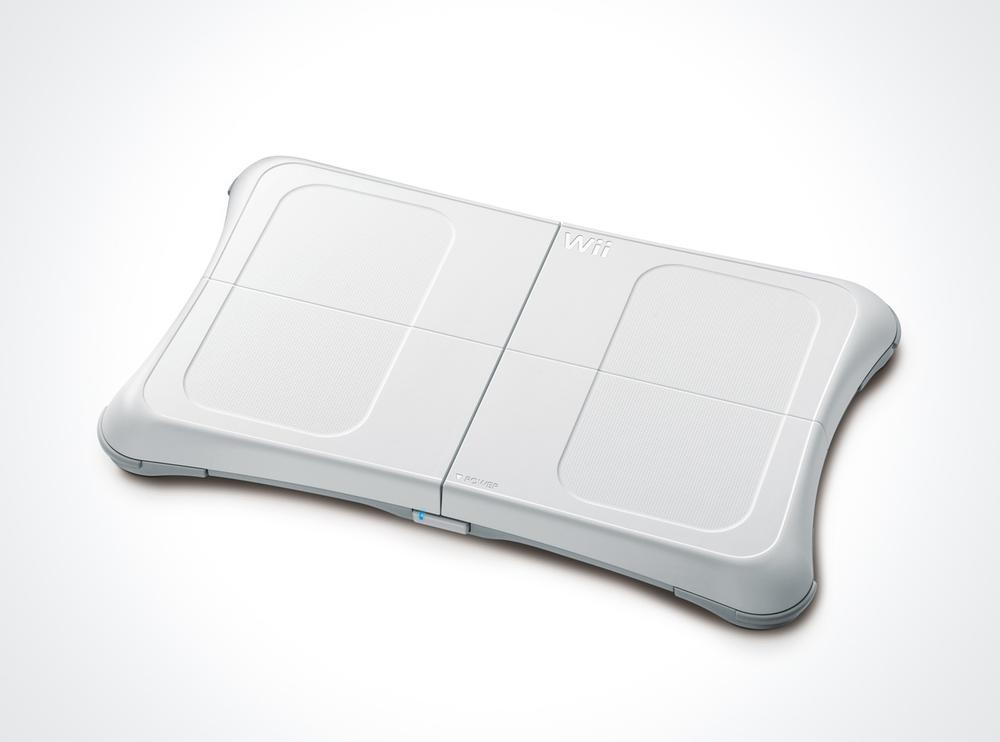 The Wii Balance Board uses a series of pressure sensors to detect a user's balance to play games such as We Ski. Courtesy Nintendo.