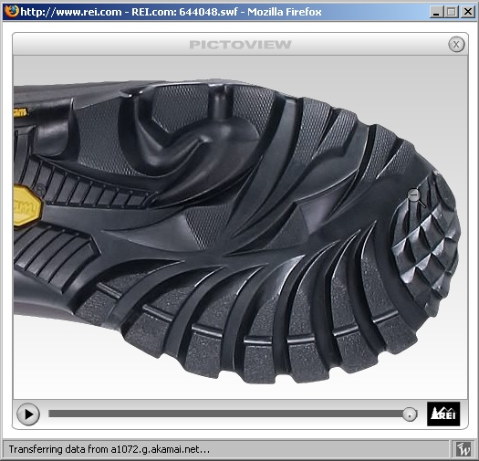3-D manipulation of a product photo on the REI web site