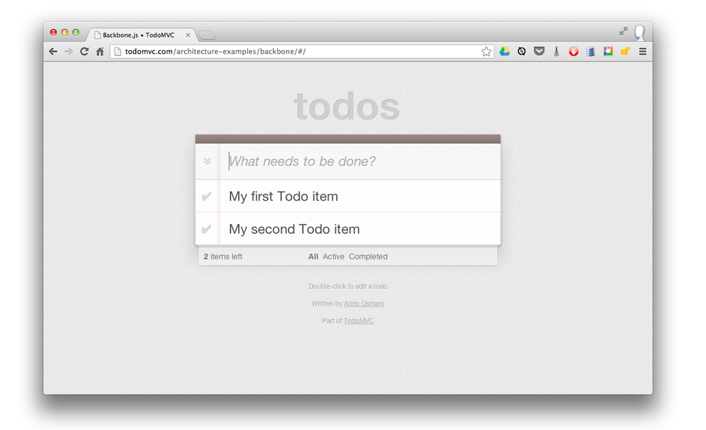 Adding new todo items