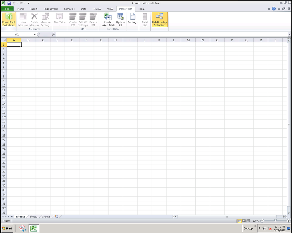 The PowerPivot tab in Excel