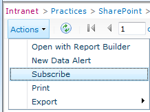 Subscribing to reports