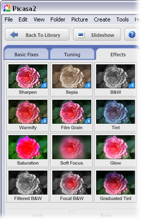 Adding Effects With Picasa Digital Photography The Missing Manual