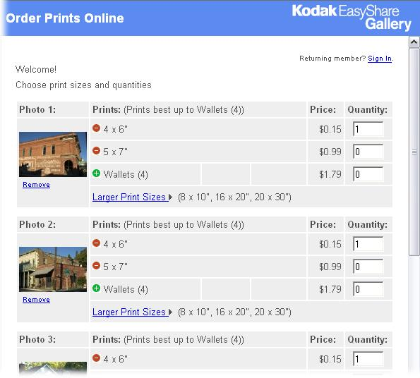 ordering prints online with easyshare digital photography the