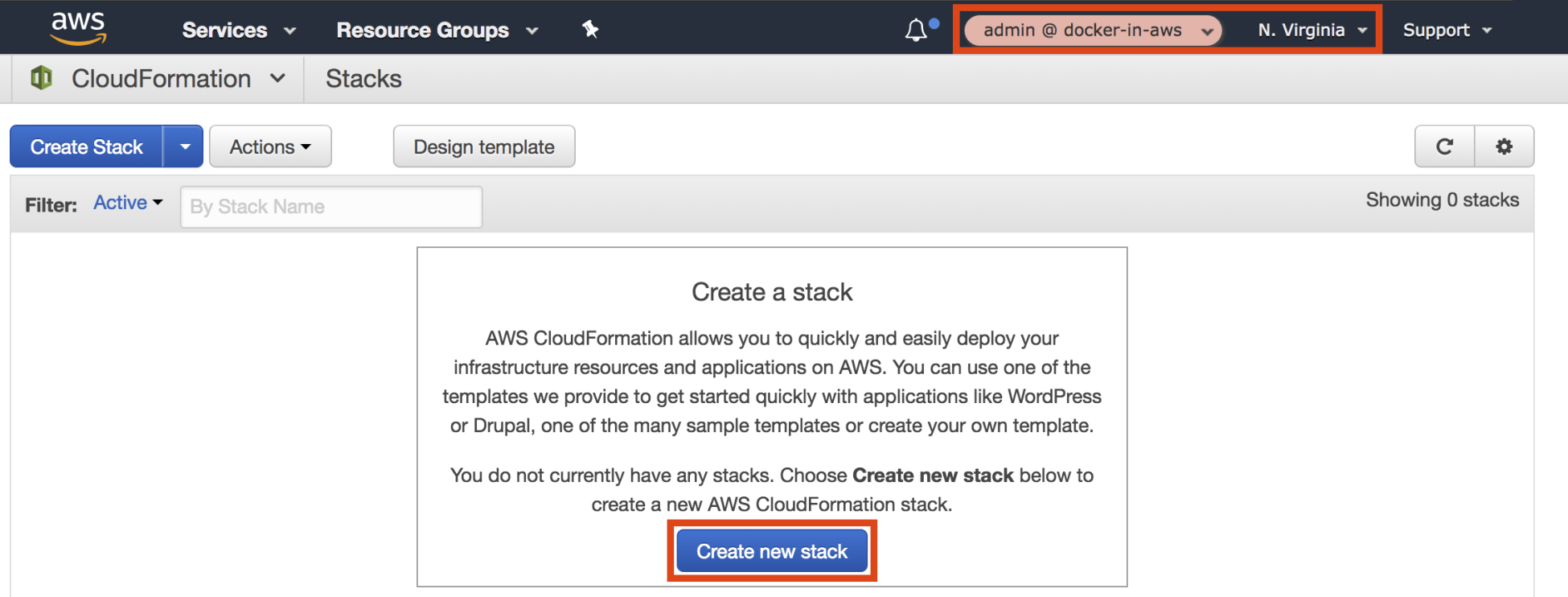 Deploying a CloudFormation stack - Docker on Amazon Web Services [Book]