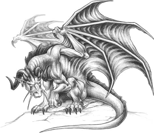 Drawings Types Of Dragons Drawing Made Easy amp Fantasy