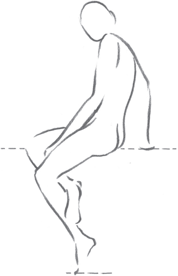 Line Art People : Movement balance drawing people with william f