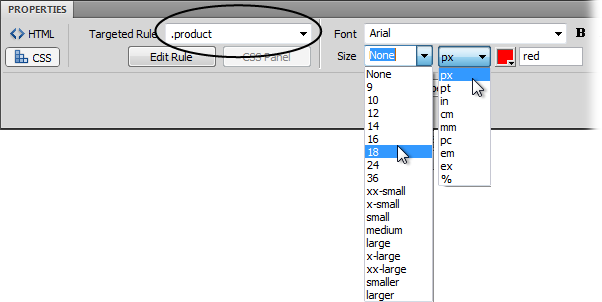 Text Formatting with CSS - Dreamweaver CS5: The Missing