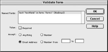 Validate Form behavior parameters