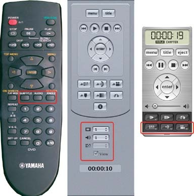 Stream control functions on consumer player and software remotes