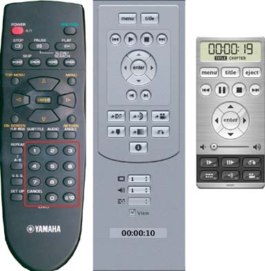 Numeric input functions on the consumer remote