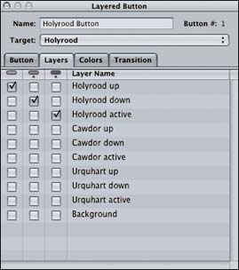 A reminder on setting up layers for buttons in the layered menu
