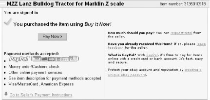 Ebay Payment Options >> Opting Out Of Checkout Ebay Hacks Book