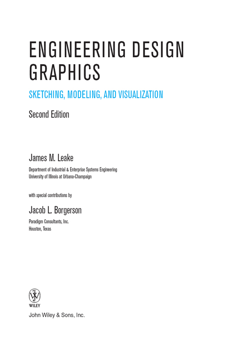 Title Page Engineering Design Graphics Sketching Modeling And Visualization 2nd Edition Book