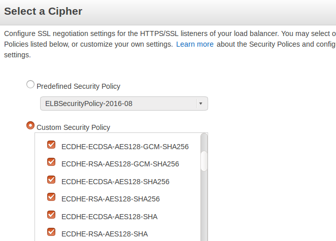 Selecting cipher suites - Enterprise Cloud Security and