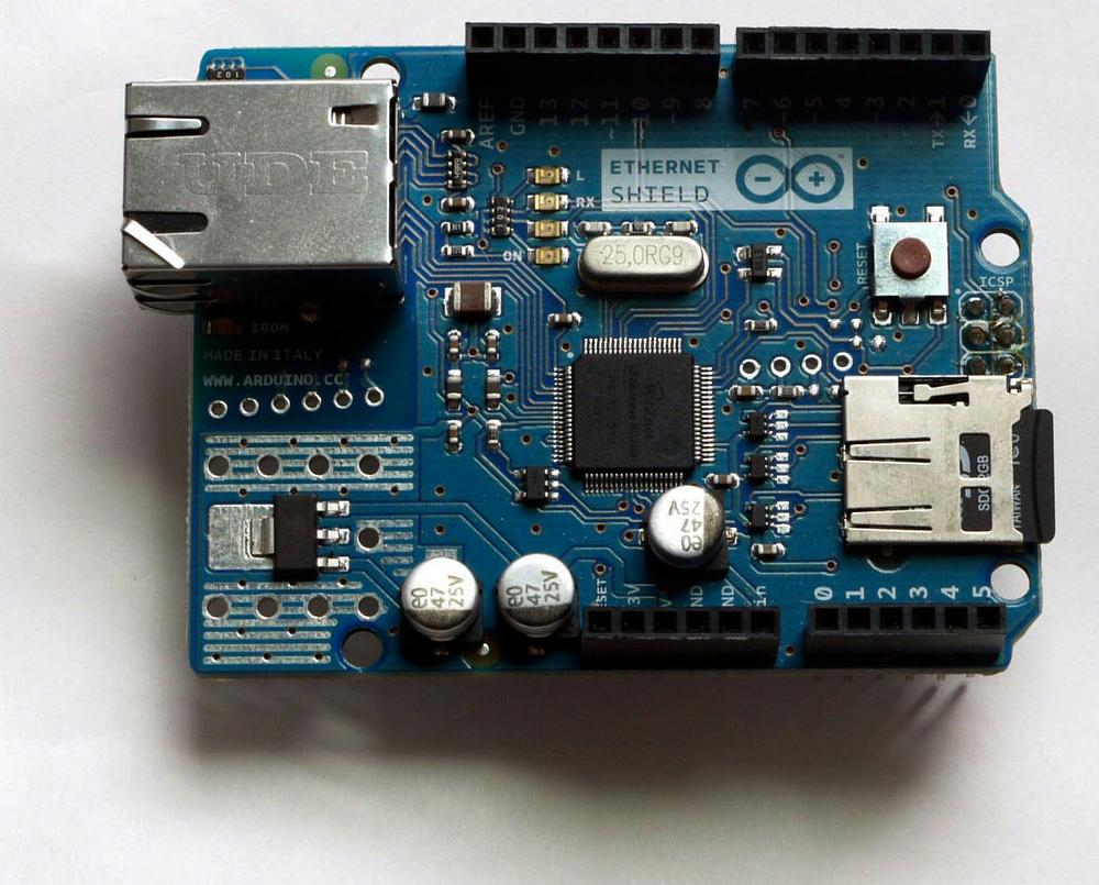 Front of the Ethernet shield.