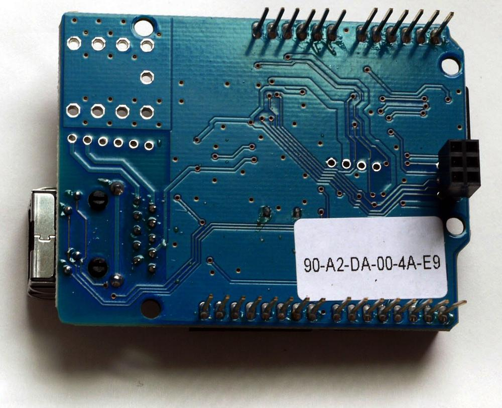 Back of the Ethernet shield.