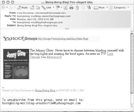 A post by email using Yahoo! Groups