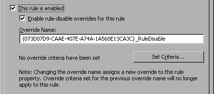 Rule-disable overrides are enabled for this rule