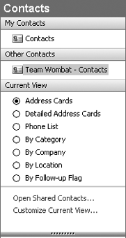 Linking the SharePoint contacts back to Outlook