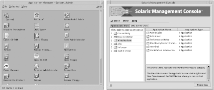 Solaris system administration tools