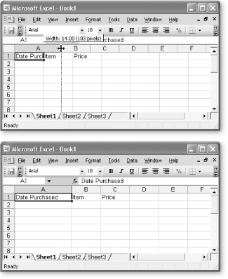 Top The Standard Width Of An Excel Column Is 843 Characters Which Hardly Allows