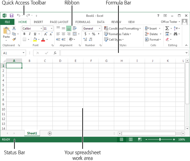 1 Creating Your First Spreadsheet Excel 2013 The Missing Manual