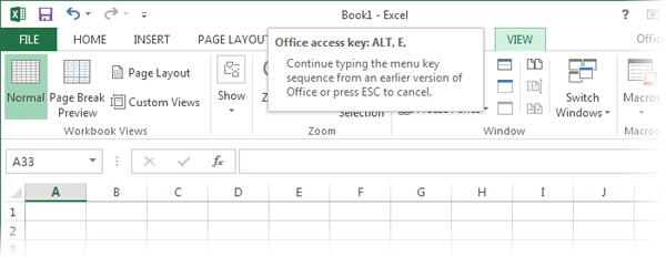 the default view in excel is called ____ view
