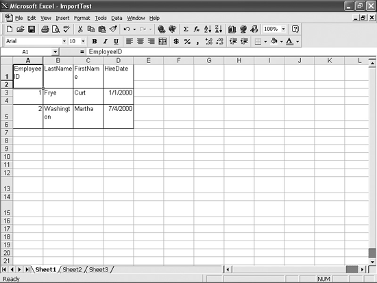 For some reason, you get two rows for one when you bring a Word table into Excel 97.