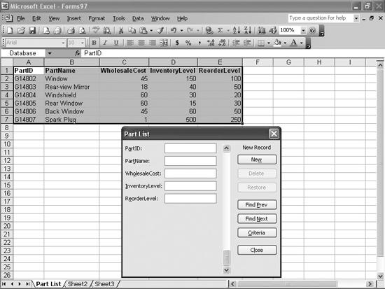 Data forms present a cleaner interface for entering data into your worksheets.