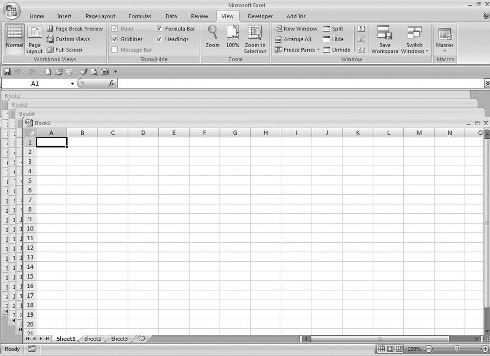 1 Reducing Workbook And Worksheet Frustration Excel Hacks 2nd. Four Workbooks In A Cascade View. Worksheet. Worksheet Change Event Slow At Mspartners.co
