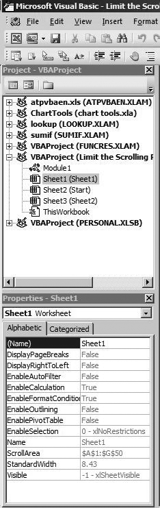 Project Explorer Properties window