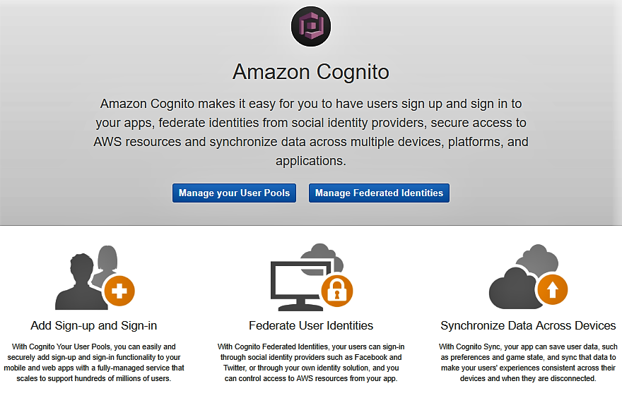 Amazon Cognito User Pool creation from the console - Expert