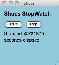 Shoes stopwatch