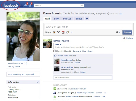 sample facebook profile page pictures to pin on pinterest