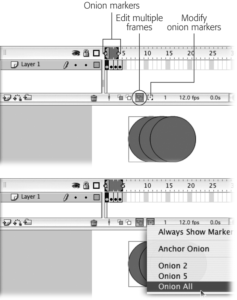 4. Organizing Frames and Layers - Flash 8: The Missing Manual [Book]