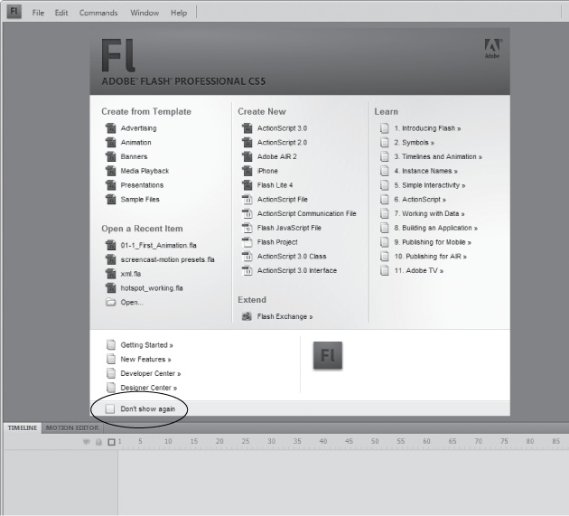 1. Getting Around Flash - Flash CS5: The Missing Manual [Book]