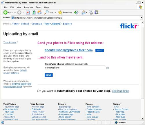 A Flickr email address