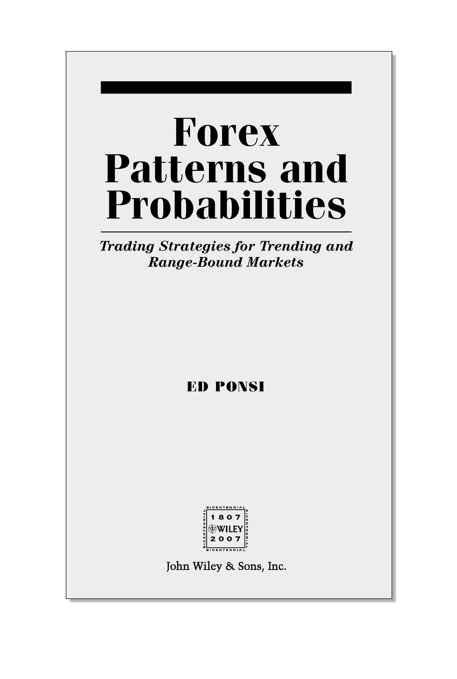 Forex Patterns and Probabilities: Trading Strategies for Trending