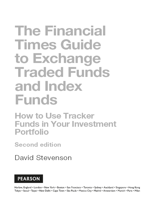 Title page - FT Guide to Exchange Traded Funds and Index