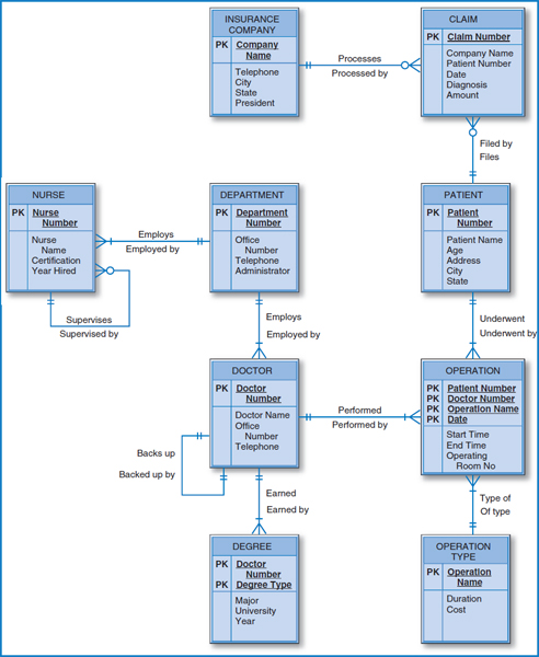 1 using mysql workbench convert the central hospi chegg using mysql workbench convert the happy cruise lines entity relationship diagram on the next page into a well structured relational database ccuart Choice Image