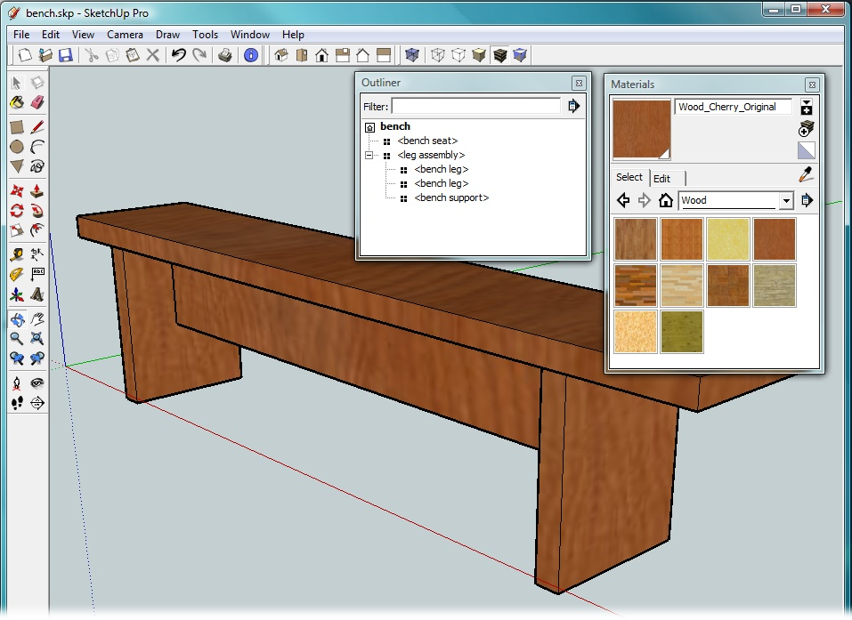 Building A Bench Your First Sketchup Model Google The Missing Manual Book