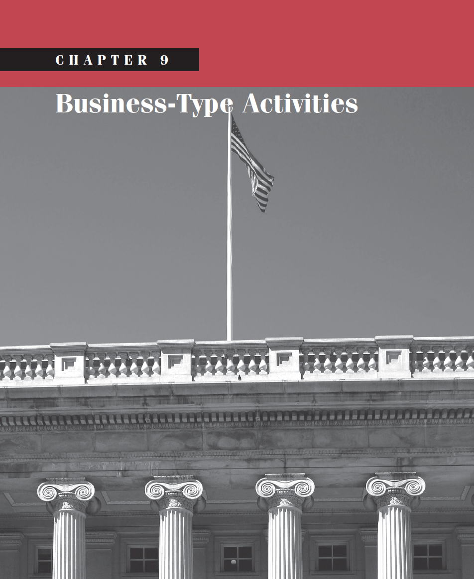 CHAPTER 9: Business-Type Activities - Government and Not For Profit