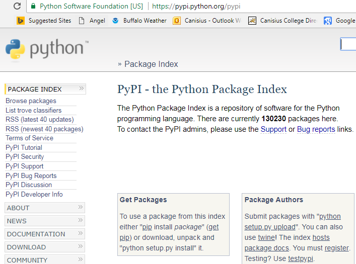 Finding all Python packages - Hands-On Data Science with
