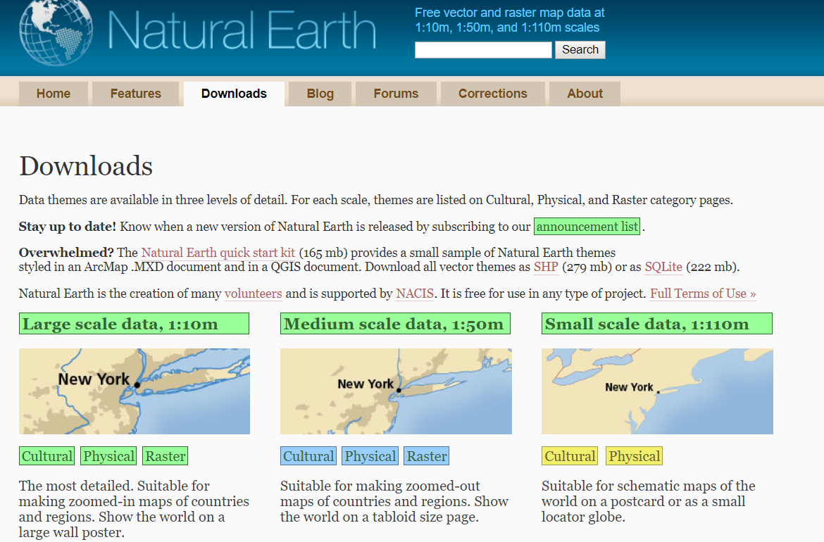 Downloading data from Natural Earth - Hands-On Geospatial
