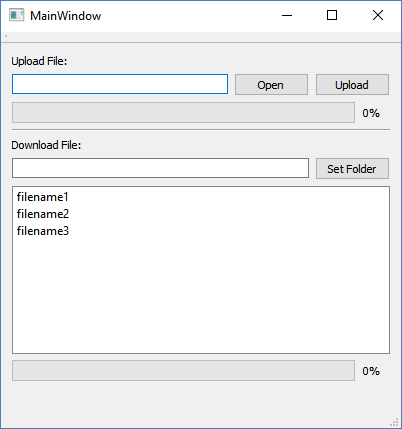 Uploading files to the FTP server - Hands-On GUI Programming with