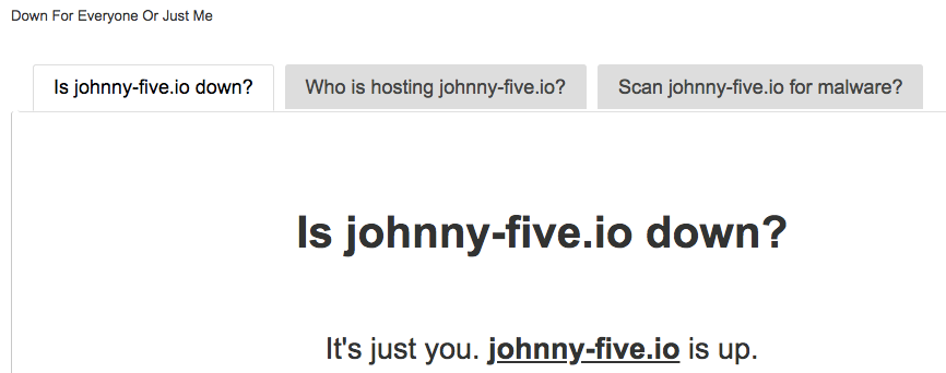 Scraping downforeveryoneorjustme com for johnny-five io