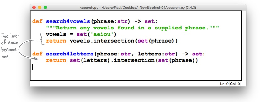 4  Code Reuse: Functions and Modules - Head First Python